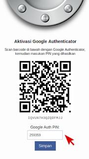 QR kode : verifikasi akun wallet bitcoin