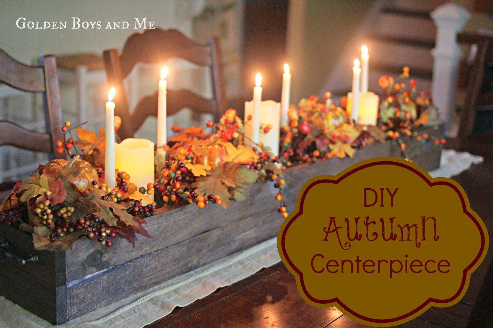 Golden Boys And Me Diy Autumn Centerpiece