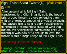 naruto castle defense 6.3 Eight-Tailed Beast Twister detail