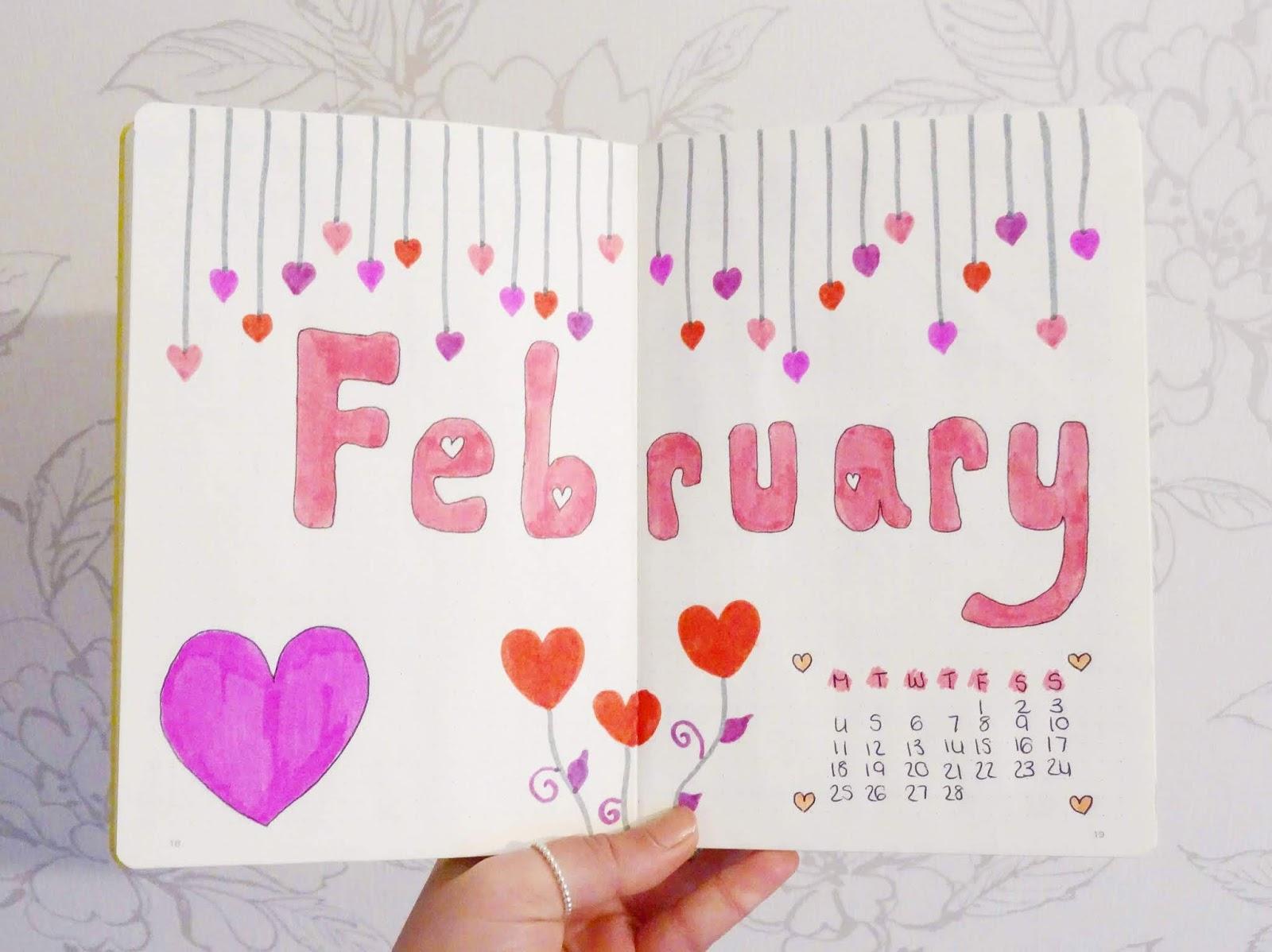February Bullet Journal Flick Through