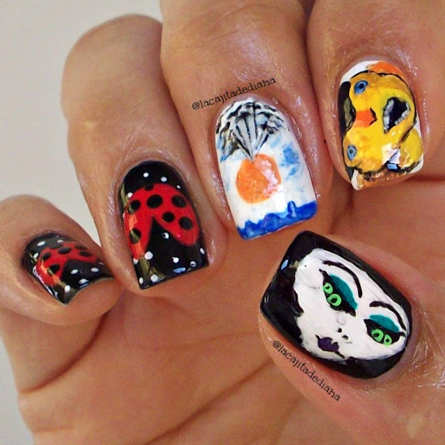 Cienpies-nailart