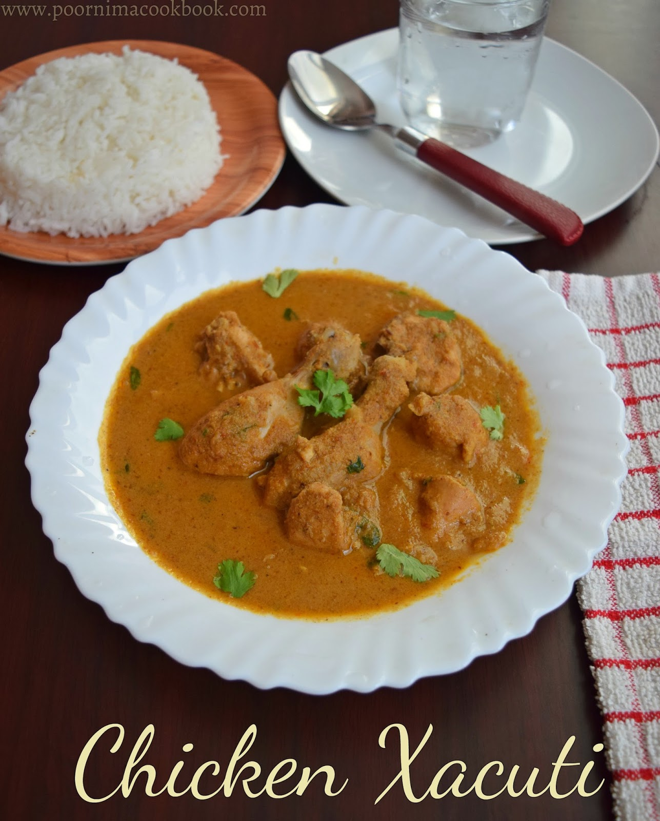 Poornimas cook book chicken xacuti goan chicken curry prep time forumfinder Gallery