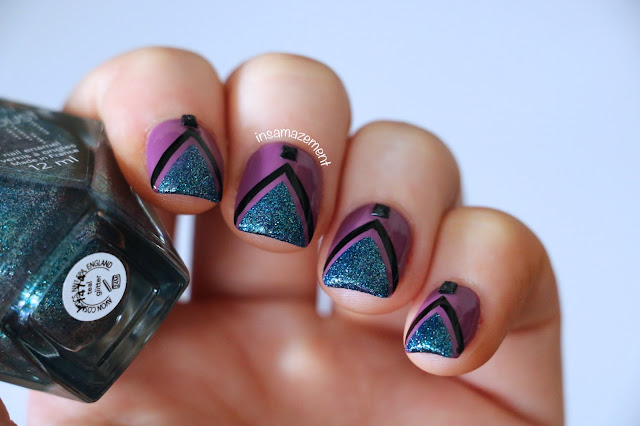 Geometric Mermaid Nail Art Tutorial