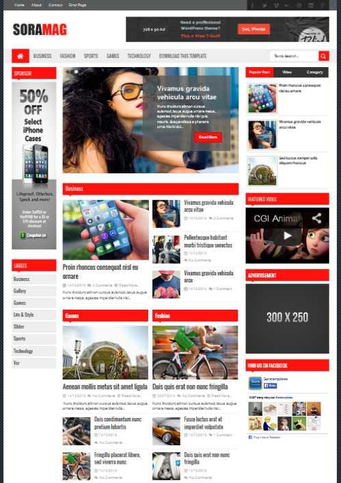 Sora Mag Template Blog Seo Friendly Magazine