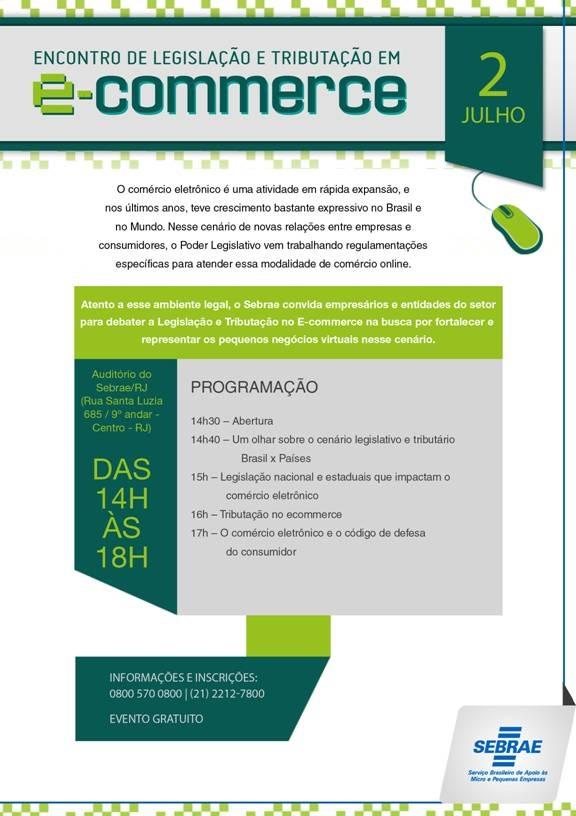 a556c49f2 Participe do 1º Encontro de Legislação e Tributação no Ecommerce - Rio de  Janeiro