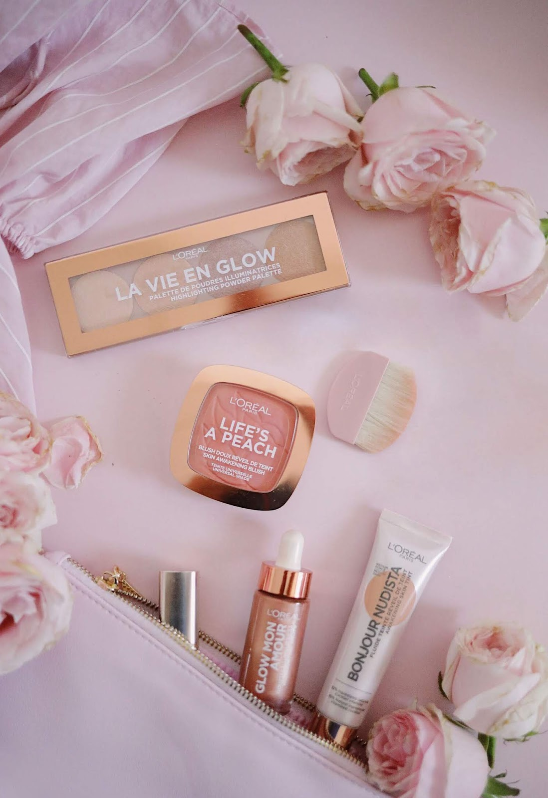 wake up and glow , l'oréal Paris ,loreal Paris , life's a peach , la vie en glow , glow mon amour , bonjour nudista , revue, avis , Swatch , rosemademoiselle , rose mademoiselle, blog beauté , Paris ,