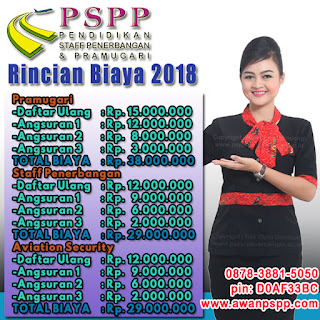 biaya sekolah pramugari pspp 2018