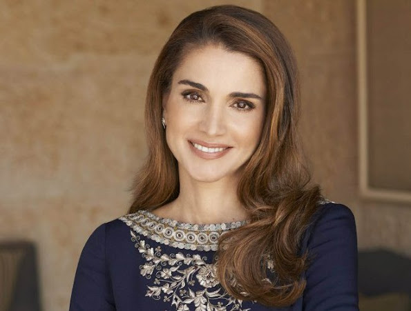 Newly published official portraits of Queen Rania El Abdullah of Jordan