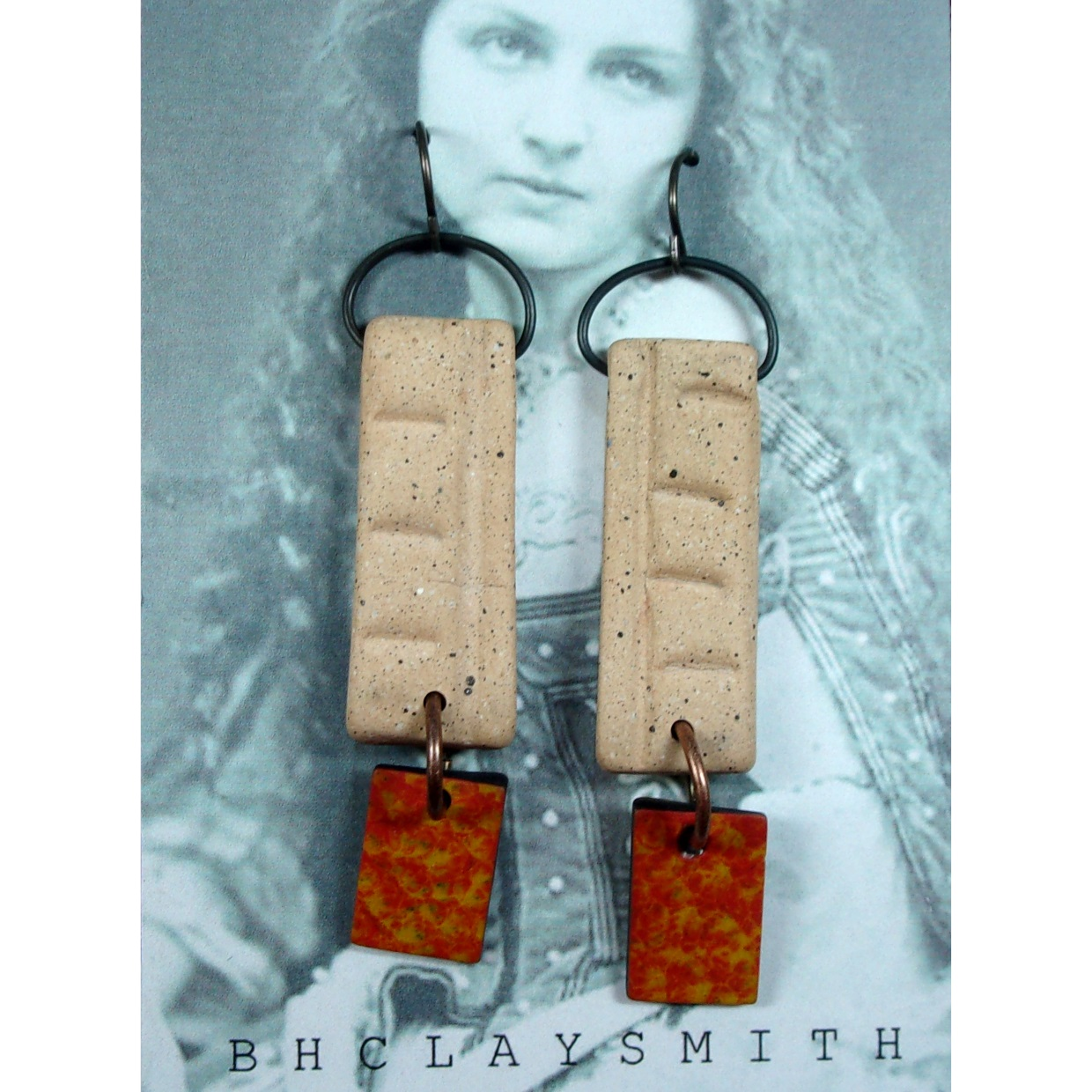 Clay Tablet Earrings