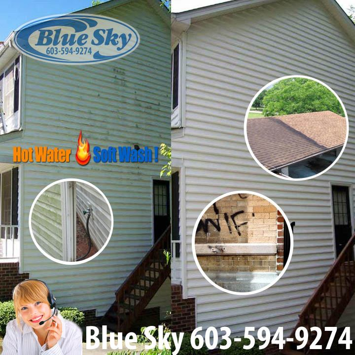 Providing full Soft Washing House & Commercial Services in New Hampshire