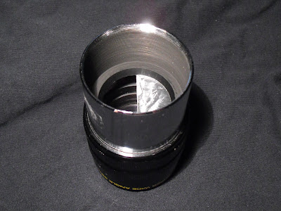 "2"" eyepiece with occulting foil at field stop"