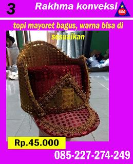topi mayoret merah mewah