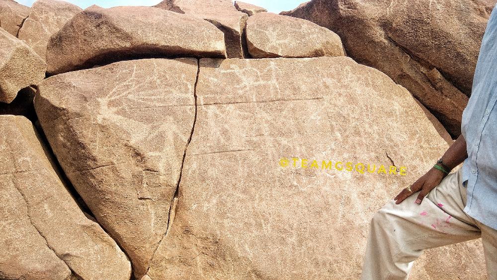 Rock carvings of Erotics scenes