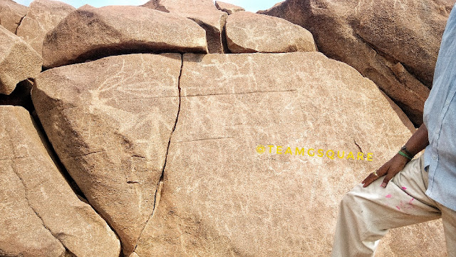 Rock carvings of Erotics scenes