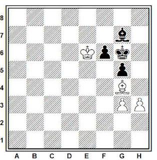 Estudio artístico de ajedrez compuesto por A. O. Herbstman (1º Premio, Schachmaty URSS, 1956)