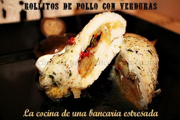 Receta de rollitos de pollo con verduras