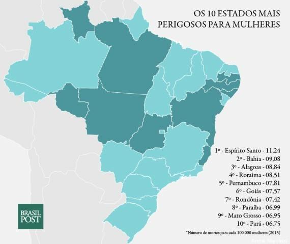 Estados Brasileiros Mais Perigosos Para Mulheres