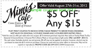 free Mimis Cafe coupons for april 2017
