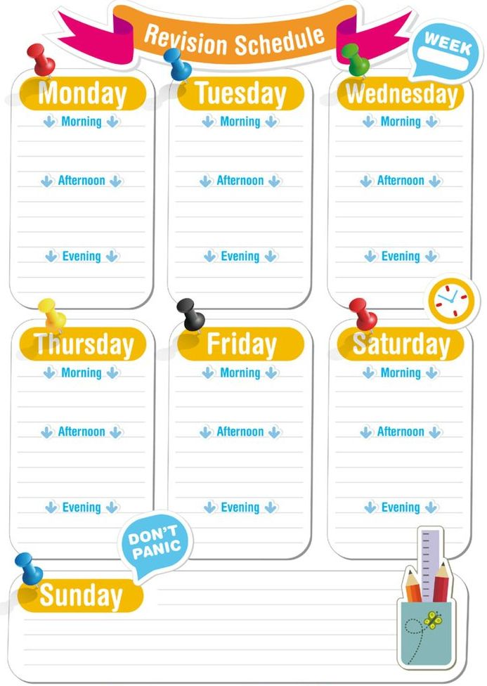 How to Develop a Revision Schedule
