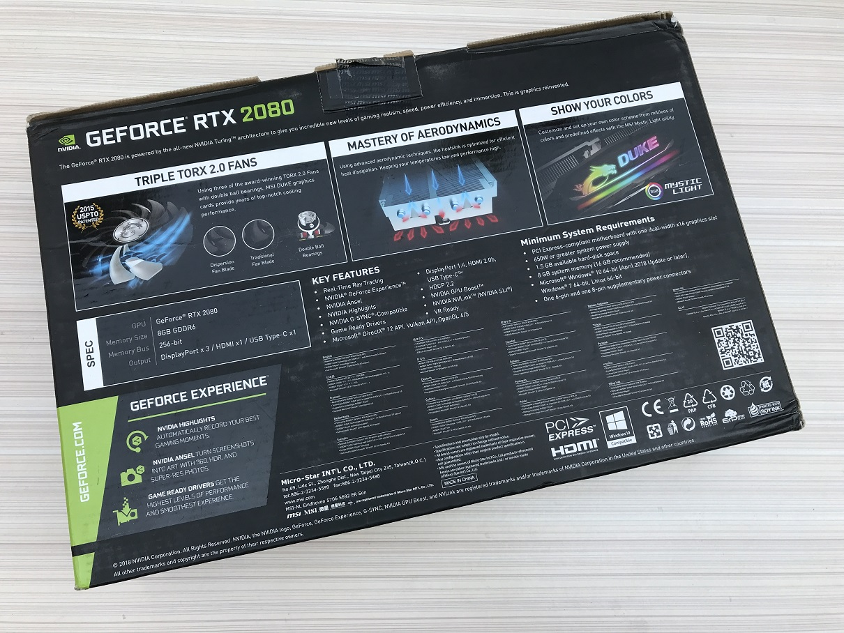 MSI RTX 2080 Duke OC Graphics Card Review ~ Computers and More