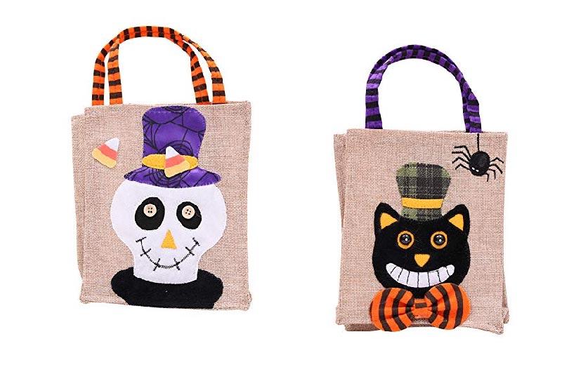 borse in lino portadolci a tema Halloween