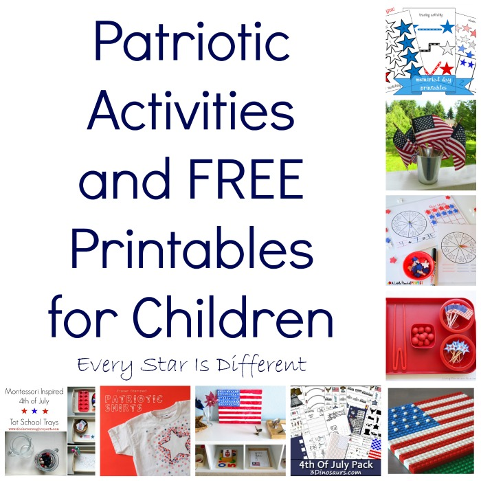 Patriotic Activities and Free Printables for Children