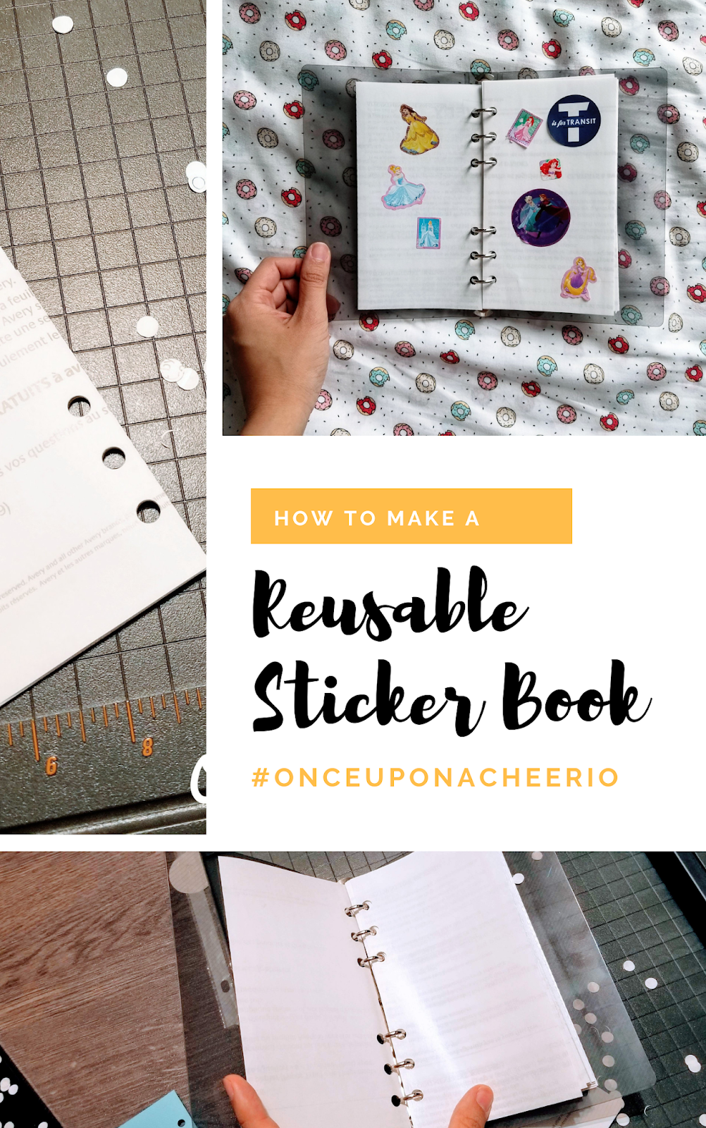 Diy Reusable Sticker Book Once Upon A Cheerio