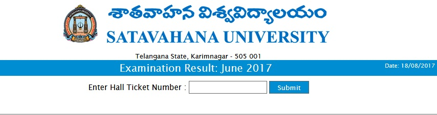 Satavahana University PG 2nd Sem Results