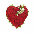 Send Heart Shape Flower Arrangement of 50 Red roses