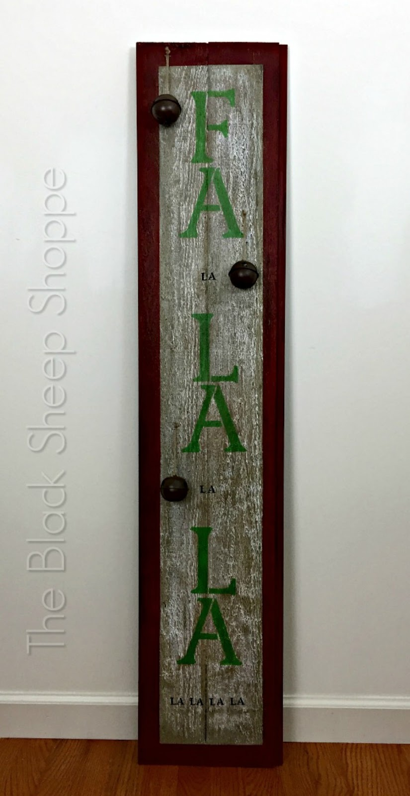Fa la la holiday barn wood sign