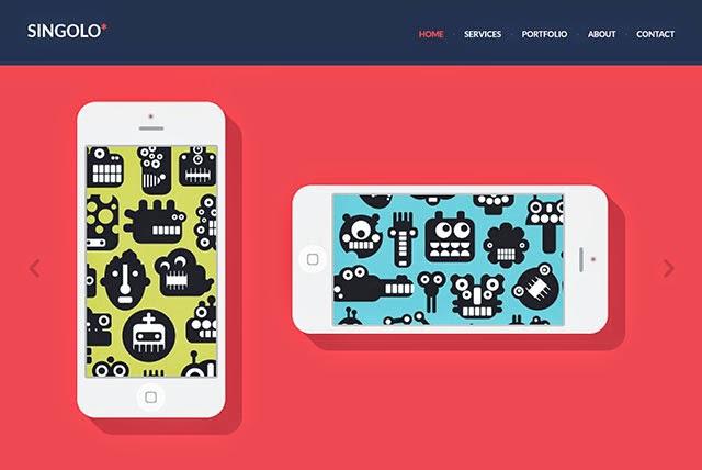 Flat PSD Website Template