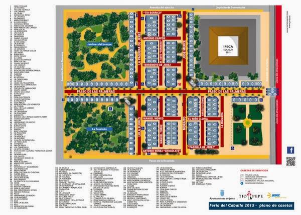 Este será la distribución de las casetas en la Feria de Jerez o Feria del Caballo.