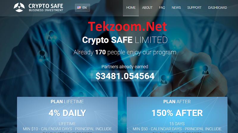 [SCAM][Crypto-Safe.Com][07/10/2016] HYIP - PAY - Lãi 4% hằng ngày mãi mãi - Min Dep 10$ - Thanh toán Instant