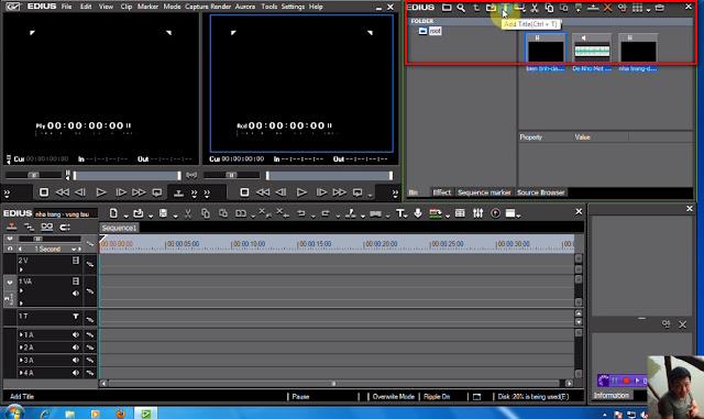 thêm tiêu đề cho đoạn phim trong Edius 6