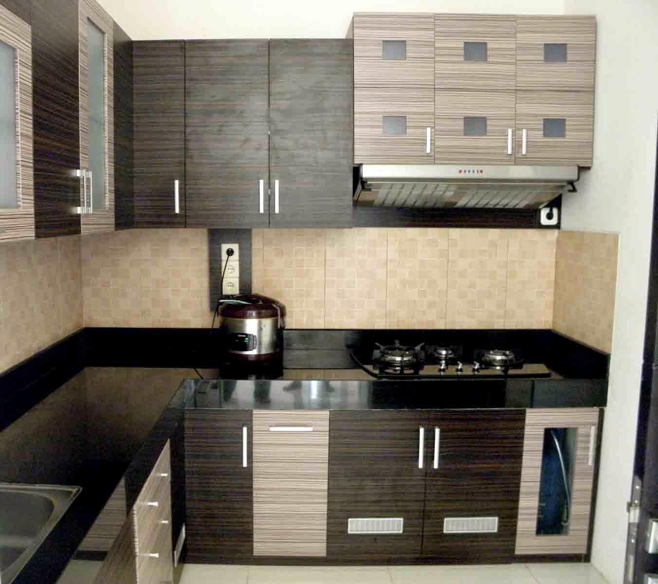 Furniture desain interior apartemen for Kitchen set jati minimalis