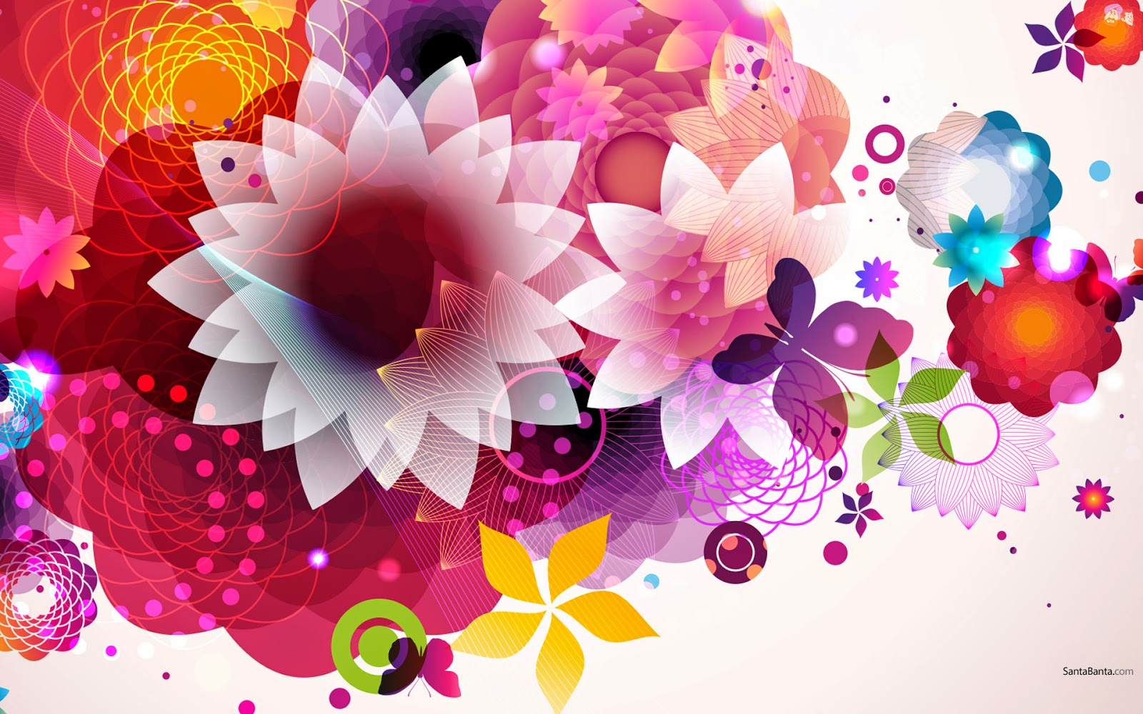 Abstract Design Flower Wallpaper: New Digital Abstract Art 2014 HD Wallpapers And Photo