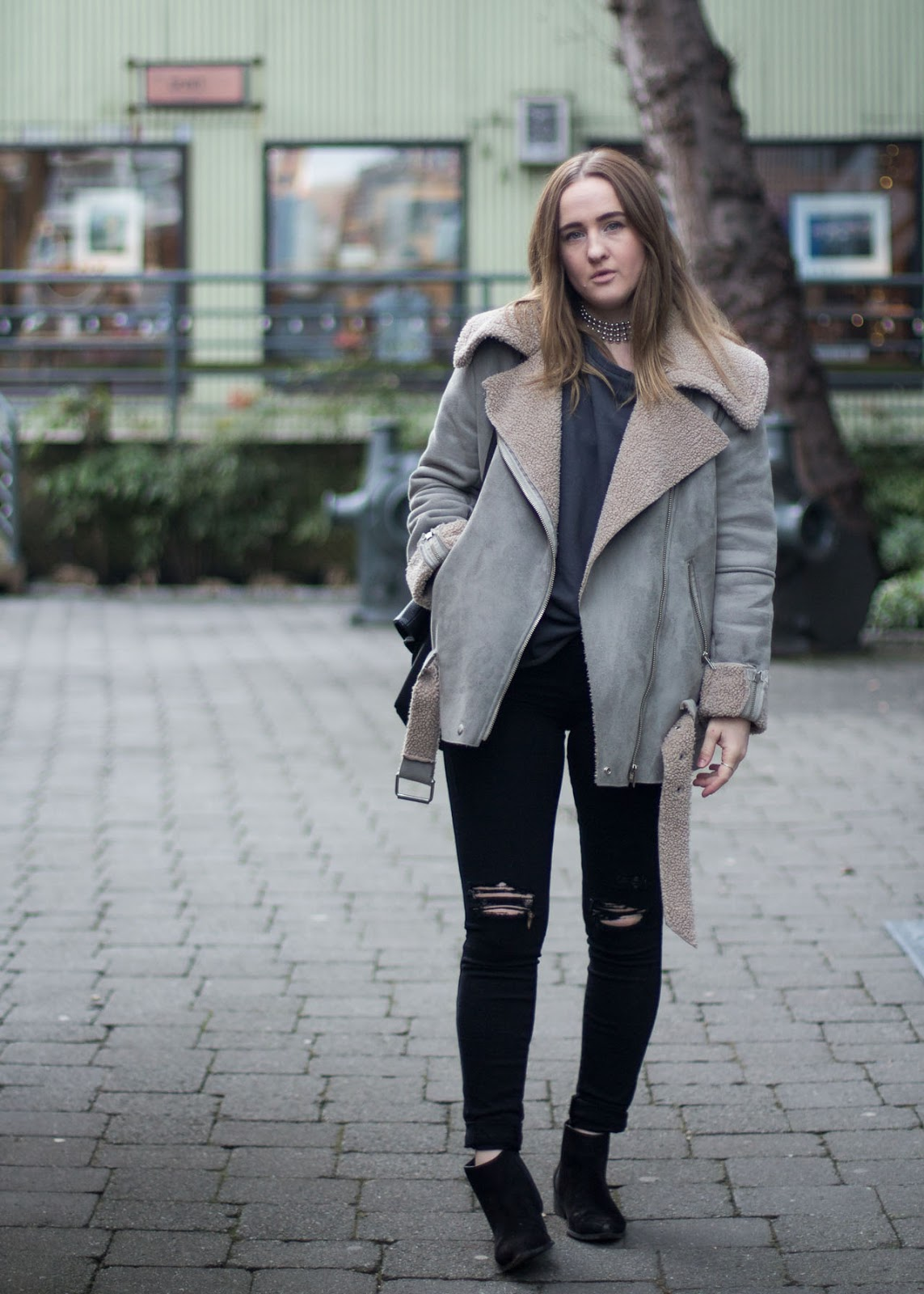 Vancouver Fashion Blogger - Winter style outfit - Noul coat - Frame jeans