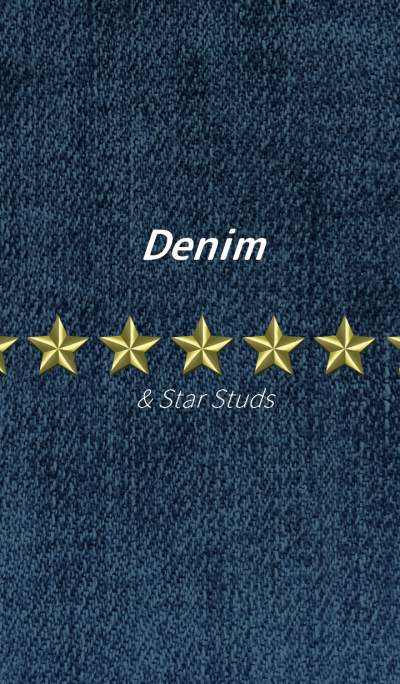 Denim & Star Studs