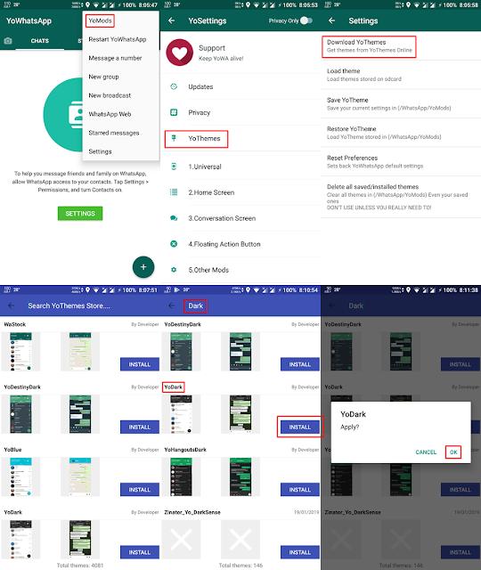Cara Membuat WhatsApp Dark Mode Asli Full Bukan Wallpaper Terbaru