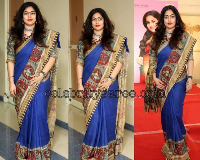 Ble Designer Saree Kalamkari Border