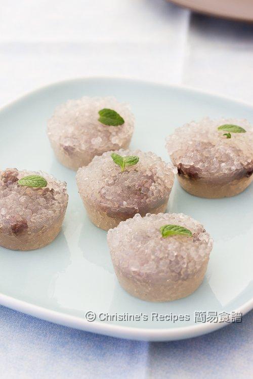 豆沙西米糕 Steamed Tapioca Red Bean Cakes01