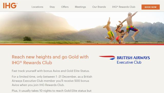 快速獲取Avios英航 500里程和IHG洲際酒店集團金會籍