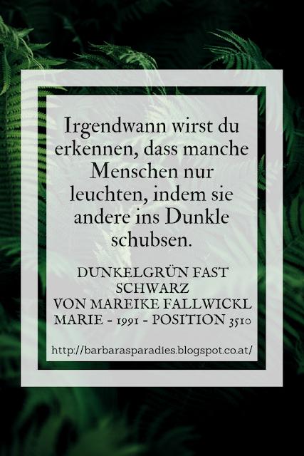 Buchrezension #205 Dunkelgrün fast schwarz von Mareike Fallwickl