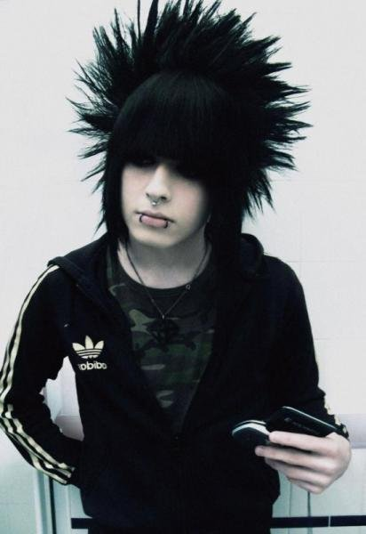 emo hairstyle boys