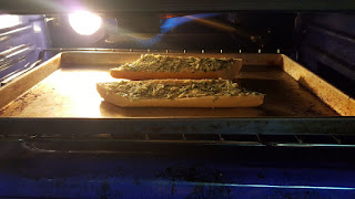 Cheesy Garlic Bread Under the Broiler