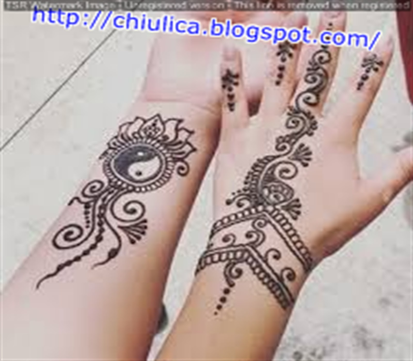Henna Kecil Simple Dan Mudah Terbaru 2017 Contoh Henna Simple Dan