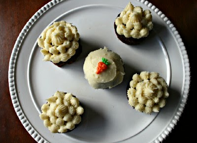 Carrot cake does taste best in cupcake form...don'tcha think?