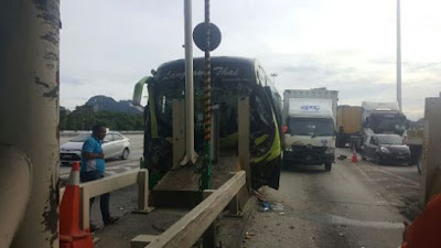 Teacher Student School Bus Crash South Ipoh Toll