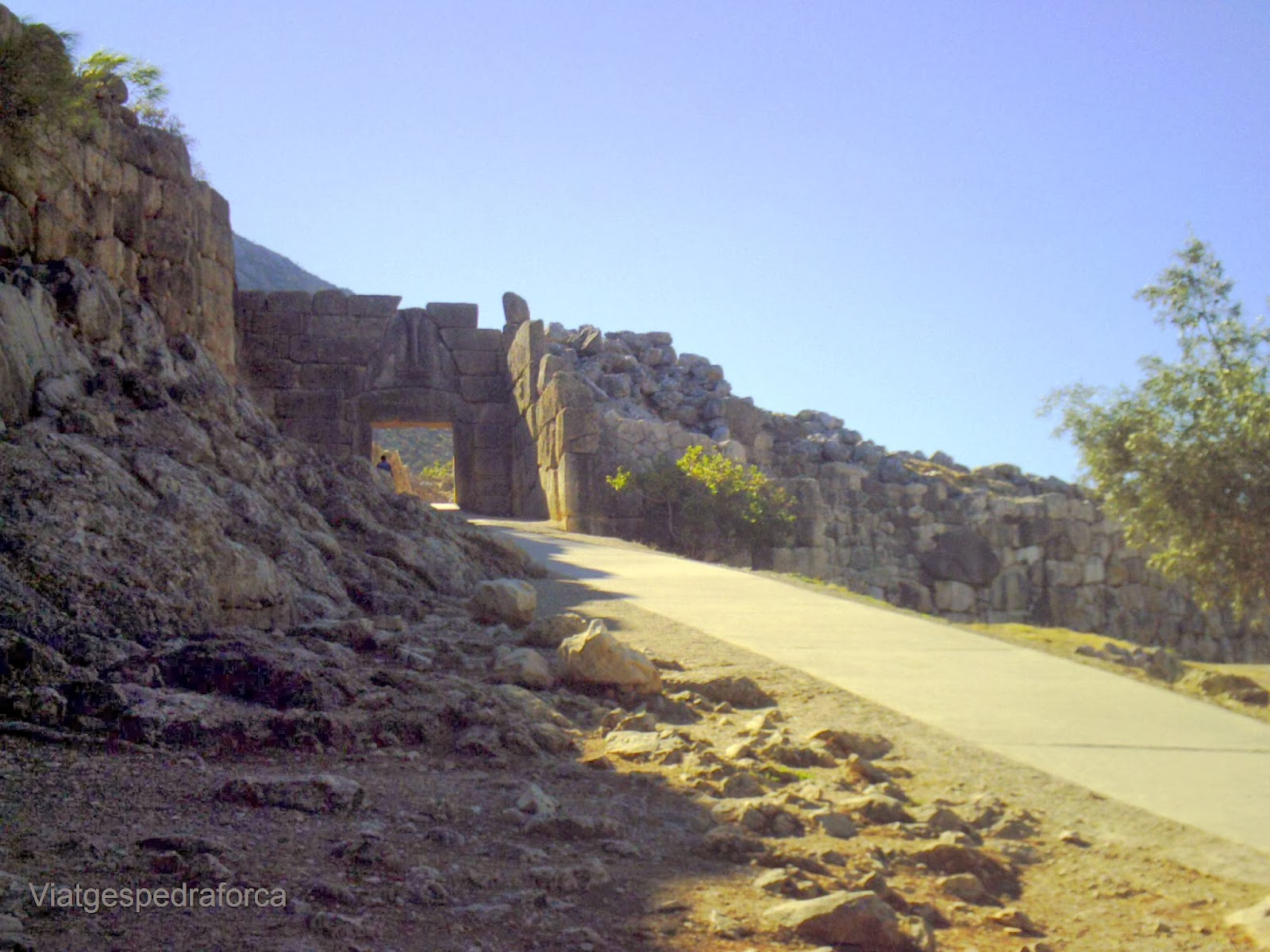 Micenes, Porta dels Lleons, Grècia, Peloponès