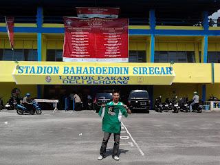Cecen, BONEK di Stadion Baharoeddin Siregar